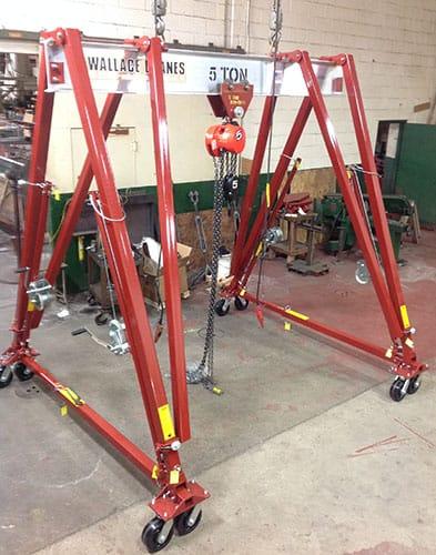 Steel Frame, Aluminum I-beam, 1 & 2 Ton Capacity Adjustable Height Gantry Cranes | Wallace Cranes
