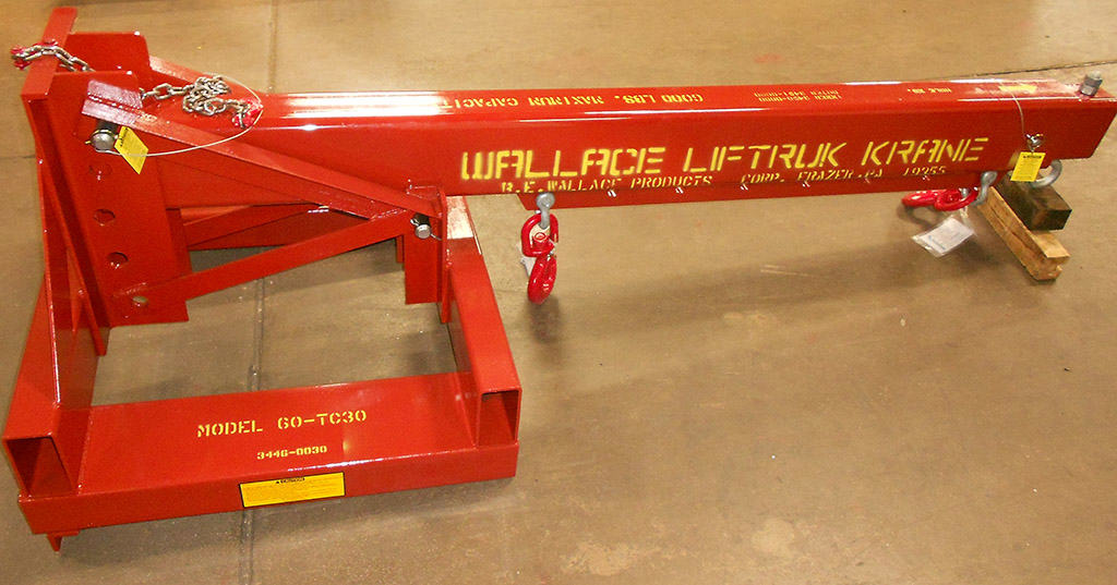 Wallace Forklift Crane Attachment Model 60-TC30 - Product Features