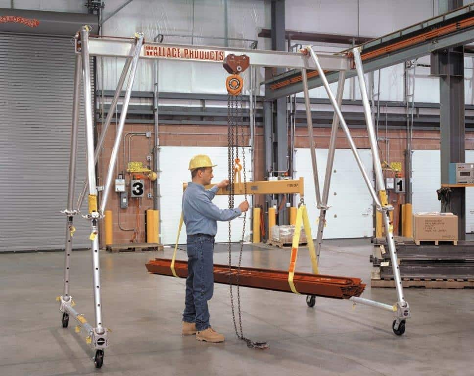 Tri-Adjustable Aluminum 1/2 To 3 Ton Gantry Cranes | Wallace Cranes