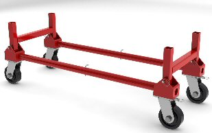 Optional Kart Kits make cranes much easier to move and store | Wallace Crane Model 3036