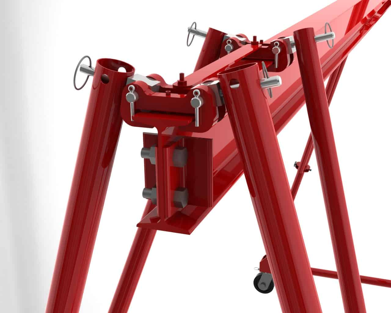 Wallace Portable Gantry Crane Design - Patented Pinned-Joint Design