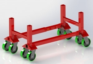 Optional Kart Kits make it easy to move and store gantry cranes | Wallace Crane Model 5148