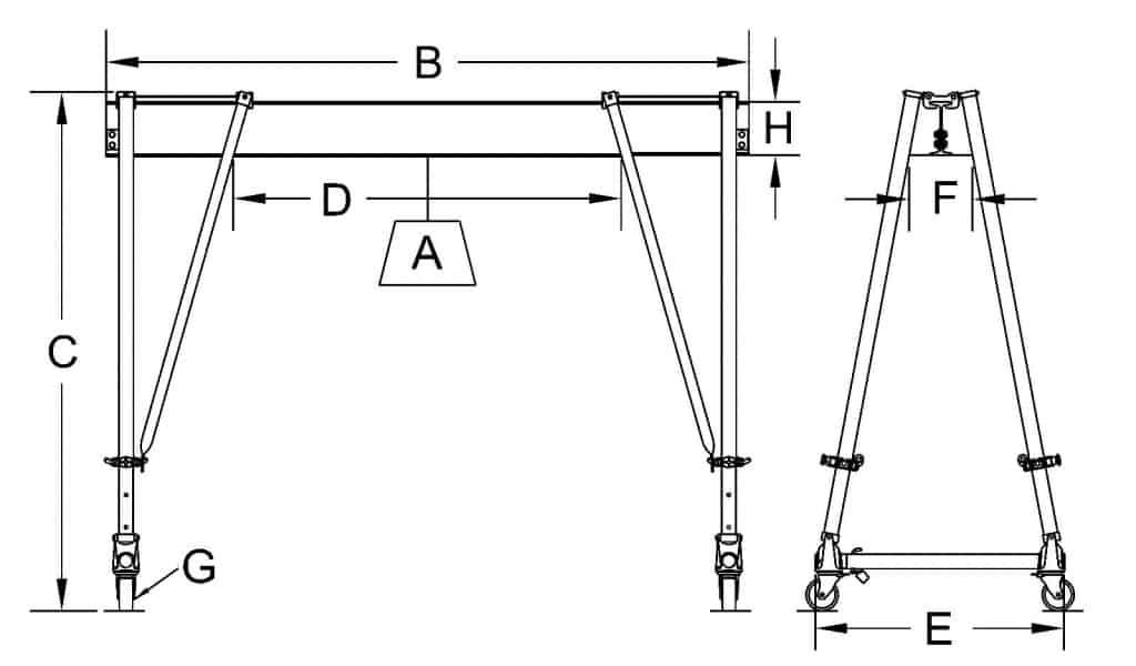 Combo (Steel & Aluminum) Dimensional Sketch