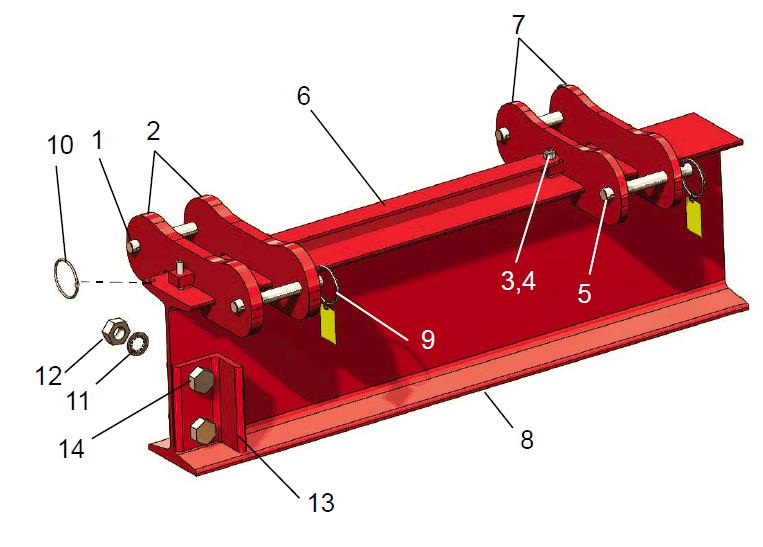 square tube i beam assembly 2-5 ton