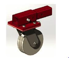 square tube v-groove caster