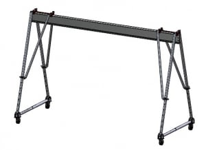 aluminum tri-adjustable (portable) gantry cranes for sale | Wallace Cranes