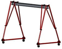 Steel Frame, Aluminum I-beam, 1 & 2 Ton Capacity Adjustable Height Gantry Crane | Wallace Cranes