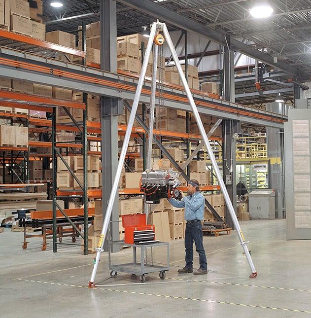 Industrial Tripod Cranes, Lifting Tripods and Tripod Hoists | Wallace Cranes