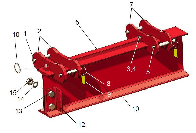 15 ton i-beam assembly
