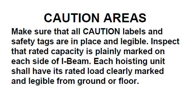 caution areas fixed height thrifty