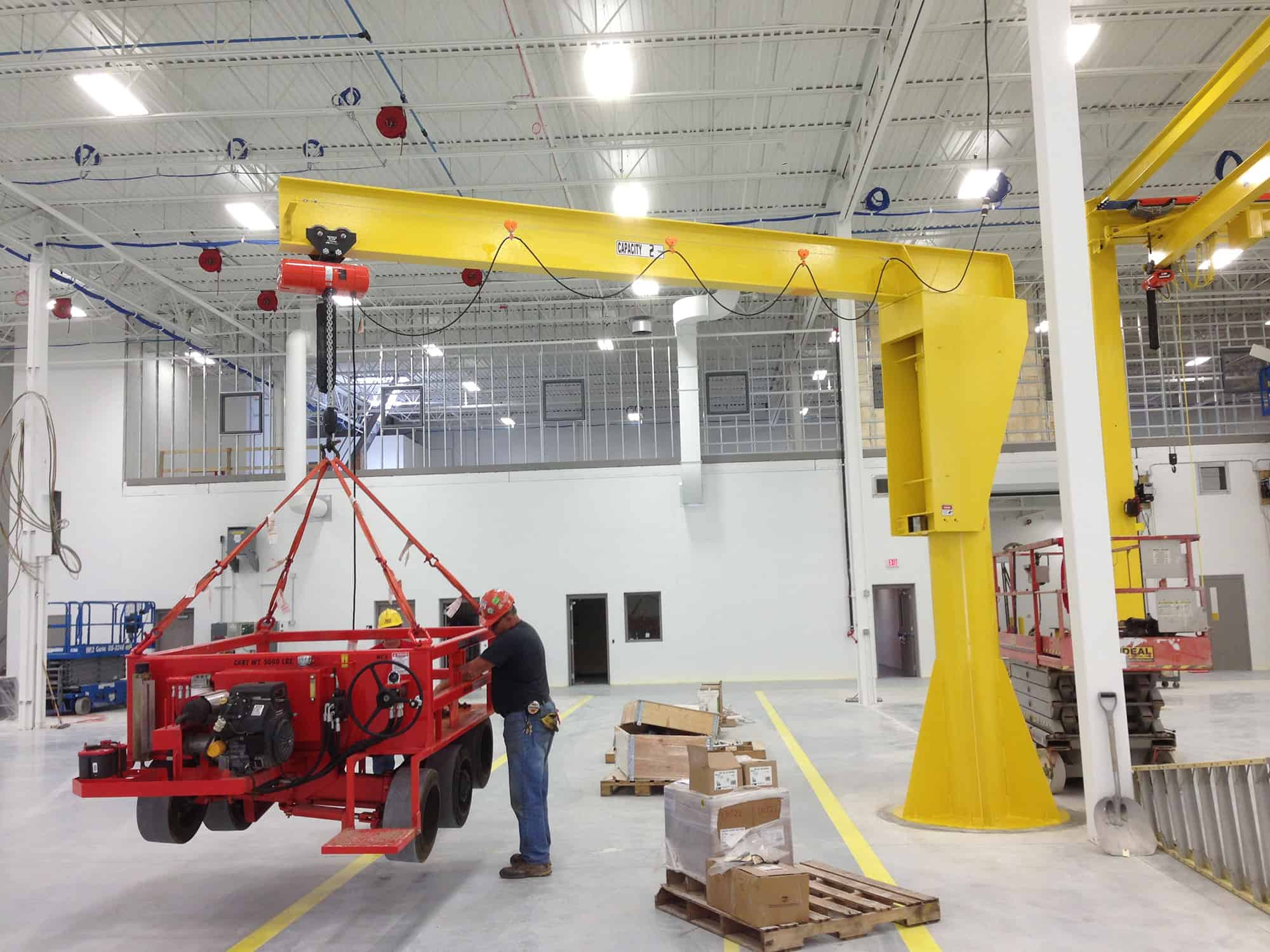 wall and floor mounted jib cranes | Wallace Cranes