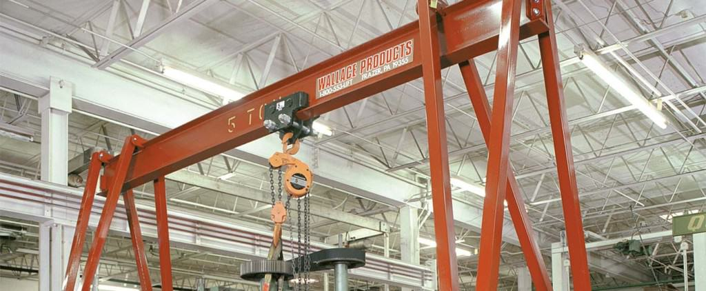 Wallace Cranes - Thrifty and Tri-Adjustable Gantry Cranes Patent Holder