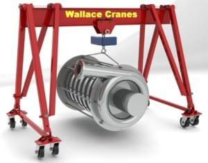 Illustrative i-beam, hoist and trolley mechanism | Wallace Cranes